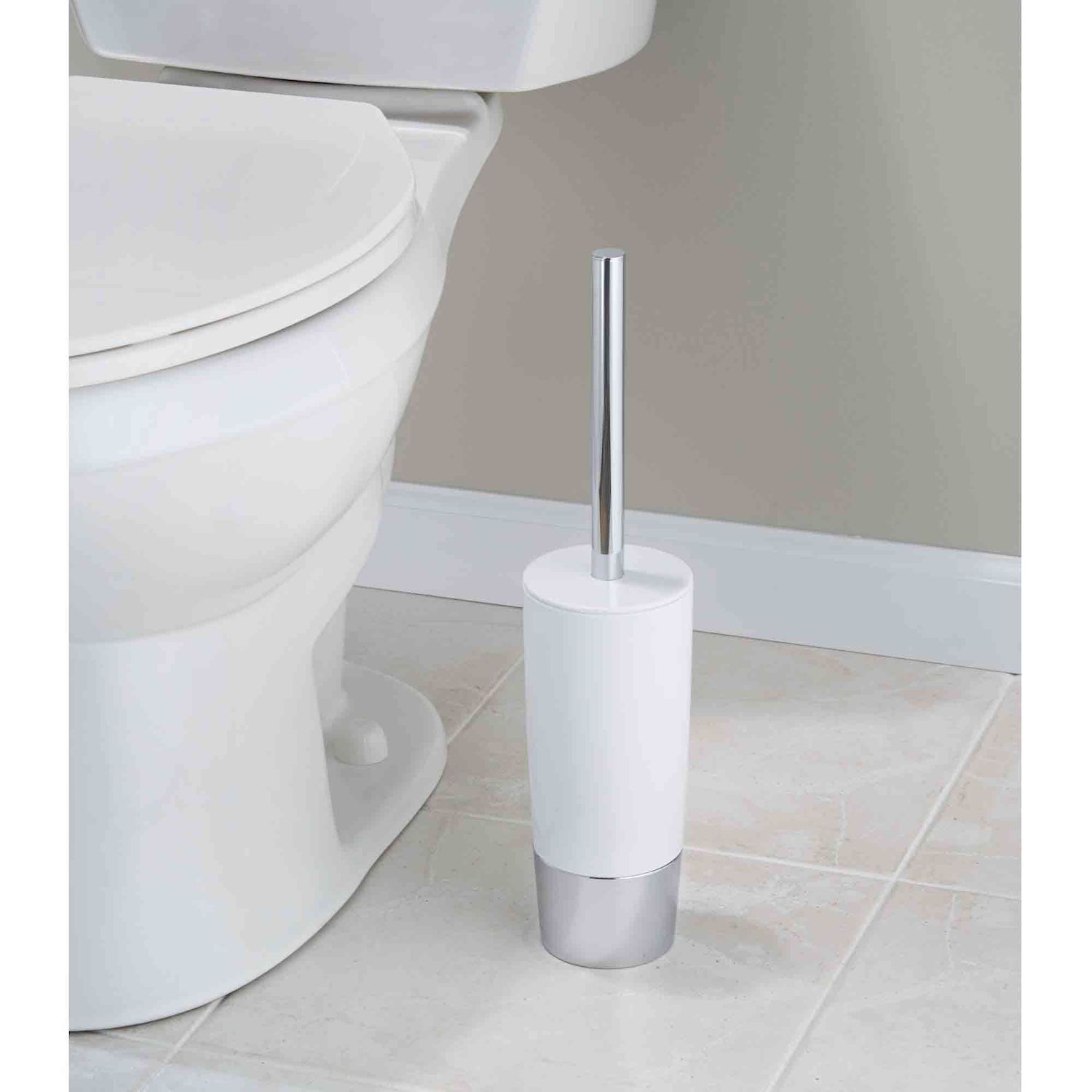 INTERDESIGN DUETTO TOILET BOWL BRUSH AND HOLDER TOILET BRUSH