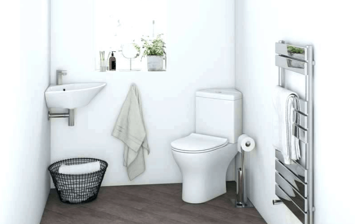 corner toilet for small bathrooms