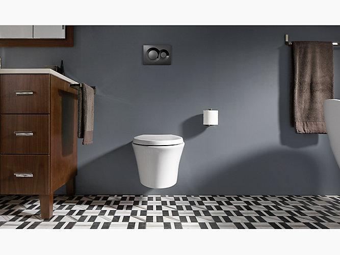 KOHLER Veil Wall-Hung Elongated Toilet Bowl corner toilet