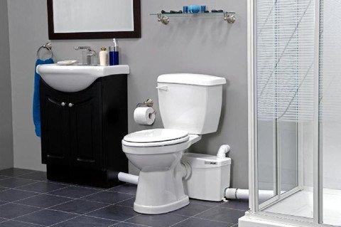 SaniFlo SaniPlus Two-Piece Best Upflush Toilet