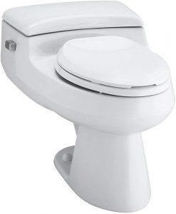 KOHLER K-4007-47 San Souci Round-Front 1.28 GPF Toilet